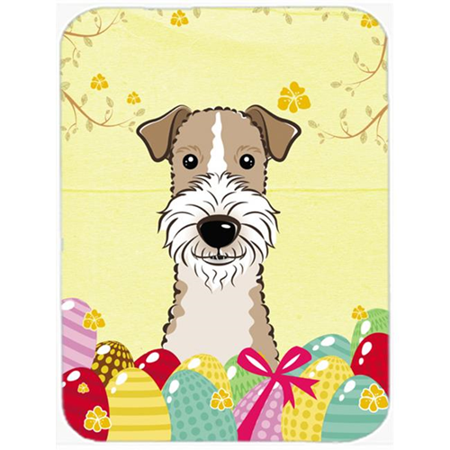 Carolines Treasures BB1929MP Wire Haired Fox Terrier Easter Egg Hunt Mouse Pad Hot Pad or Trivet