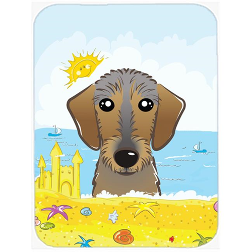 Carolines Treasures BB2101MP Wirehaired Dachshund Summer Beach Mouse Pad Hot Pad or Trivet