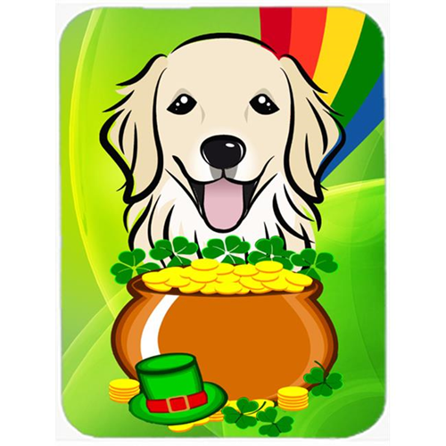 Carolines Treasures BB1949MP Golden Retriever St. Patricks Day Mouse Pad Hot Pad or Trivet
