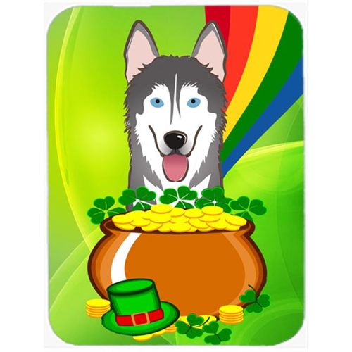 Carolines Treasures BB1962MP Alaskan Malamute St. Patricks Day Mouse Pad Hot Pad or Trivet