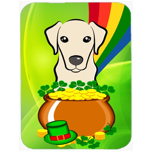 Carolines Treasures BB1966MP Yellow Labrador St. Patricks Day Mouse Pad Hot Pad or Trivet
