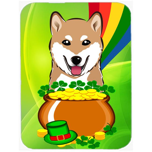 Carolines Treasures BB1969MP Shiba Inu St. Patricks Day Mouse Pad Hot Pad or Trivet