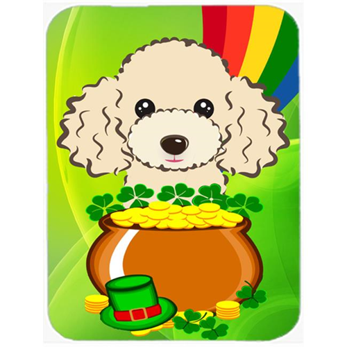 Carolines Treasures BB2002MP Buff Poodle St. Patricks Day Mouse Pad Hot Pad or Trivet