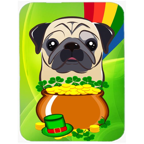Carolines Treasures BB2006MP Fawn Pug St. Patricks Day Mouse Pad Hot Pad or Trivet