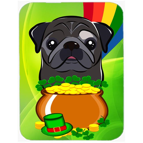 Carolines Treasures BB2007MP Black Pug St. Patricks Day Mouse Pad Hot Pad or Trivet