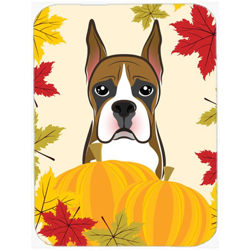 Carolines Treasures BB2029MP Boxer Thanksgiving Mouse Pad Hot Pad or Trivet