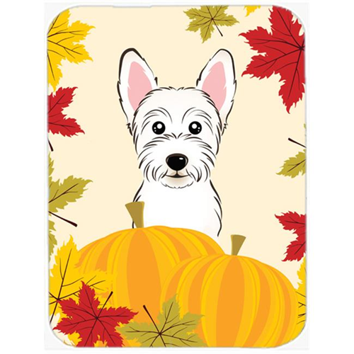 Carolines Treasures BB2032MP Westie Thanksgiving Mouse Pad Hot Pad or Trivet