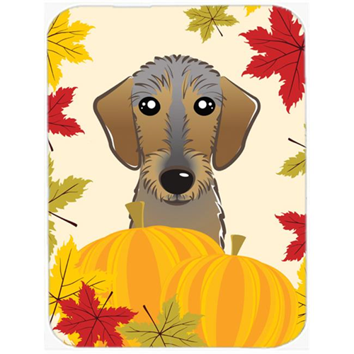Carolines Treasures BB2039MP Wirehaired Dachshund Thanksgiving Mouse Pad Hot Pad or Trivet