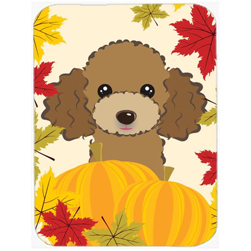 Carolines Treasures BB2062MP Chocolate Brown Poodle Thanksgiving Mouse Pad Hot Pad or Trivet