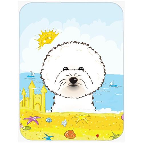 Carolines Treasures BB2085MP Bichon Frise Summer Beach Mouse Pad Hot Pad or Trivet