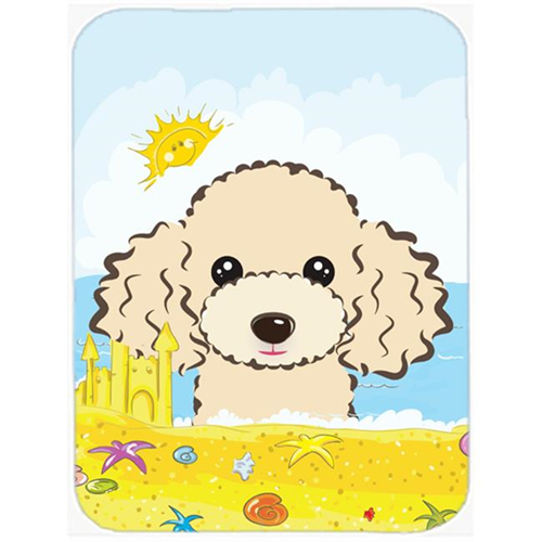 Carolines Treasures BB2126MP Buff Poodle Summer Beach Mouse Pad Hot Pad or Trivet
