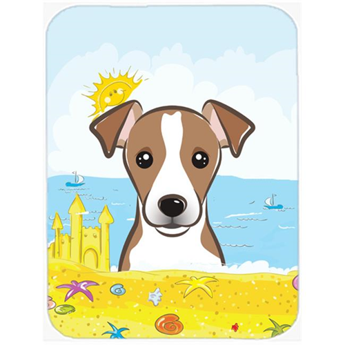 Carolines Treasures BB2128MP Jack Russell Terrier Summer Beach Mouse Pad Hot Pad or Trivet