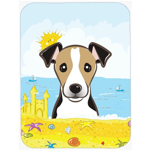 Carolines Treasures BB2129MP Jack Russell Terrier Summer Beach Mouse Pad Hot Pad or Trivet