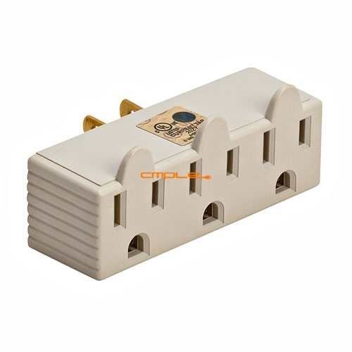 Cmple 180-N 3-Outlet Wall Adapter