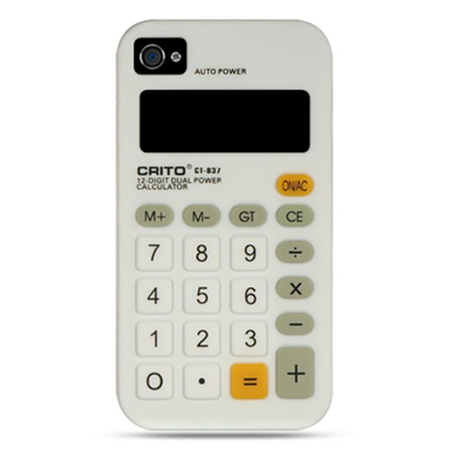 DreamWireless IP-SCIP4VZCALWT iPhone 4S & iPhone 4 Compatible Calculator Skin Case - White