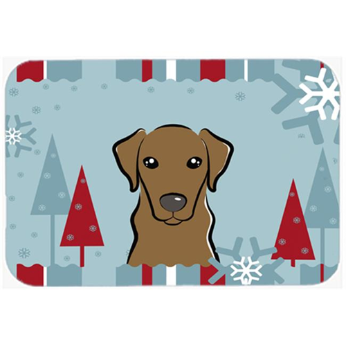 Carolines Treasures BB1730MP Winter Holiday Chocolate Labrador Mouse Pad Hot Pad & Trivet