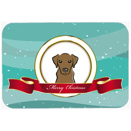 Carolines Treasures BB1544MP Chocolate Labrador Merry Christmas Mouse Pad Hot Pad & Trivet