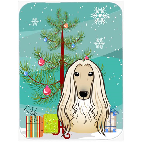 Carolines Treasures BB1616MP Christmas Tree And Afghan Hound Mouse Pad Hot Pad & Trivet