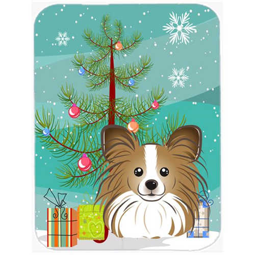 Carolines Treasures BB1620MP Christmas Tree And Papillon Mouse Pad Hot Pad & Trivet