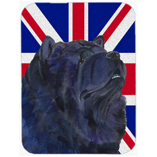 Carolines Treasures SS4943MP 7.75 x 9.25 In. Chow Chow With English Union Jack British Flag Mouse Pad Hot Pad Or Trivet