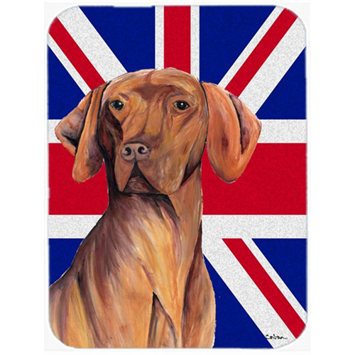 Carolines Treasures SC9835MP 7.75 x 9.25 In. Vizsla With English Union Jack British Flag Mouse Pad Hot Pad Or Trivet
