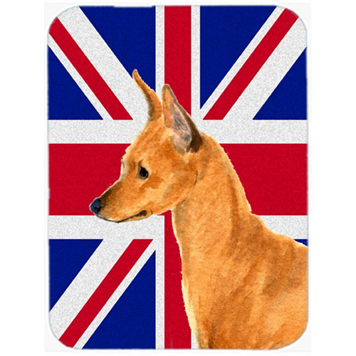 Carolines Treasures SS4908MP 7.75 x 9.25 In. Min Pin With English Union Jack British Flag Mouse Pad Hot Pad Or Trivet