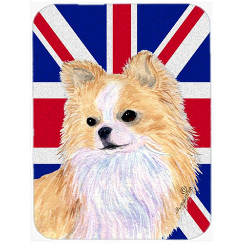 Carolines Treasures SS4915MP 7.75 x 9.25 In. Chihuahua With English Union Jack British Flag Mouse Pad Hot Pad Or Trivet