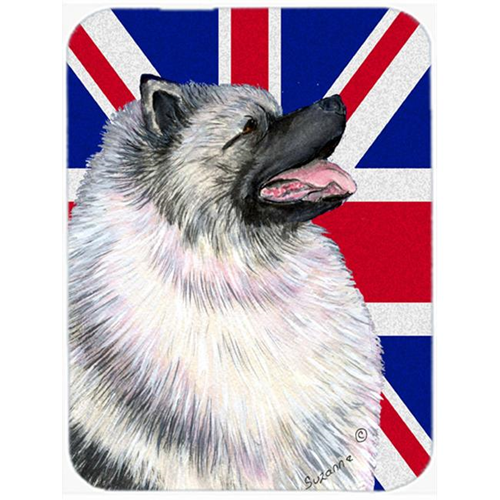 Carolines Treasures SS4930MP 7.75 x 9.25 In. Keeshond With English Union Jack British Flag Mouse Pad Hot Pad Or Trivet