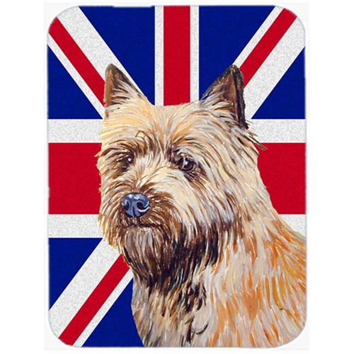 Carolines Treasures LH9472MP 7.75 x 9.25 In. Cairn Terrier With English Union Jack British Flag Mouse Pad Hot Pad Or Trivet