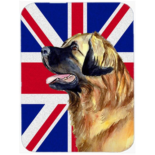 Carolines Treasures LH9500MP 7.75 x 9.25 In. Leonberger With English Union Jack British Flag Mouse Pad Hot Pad Or Trivet