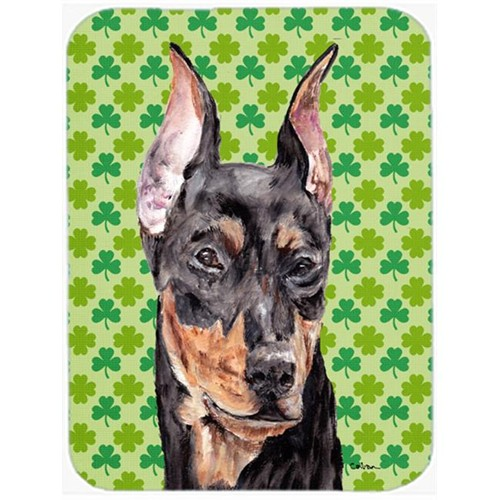 Carolines Treasures SC9740MP German Pinscher Lucky Shamrock St. Patricks Day Mouse Pad Hot Pad Or Trivet 7.75 x 9.25 In.
