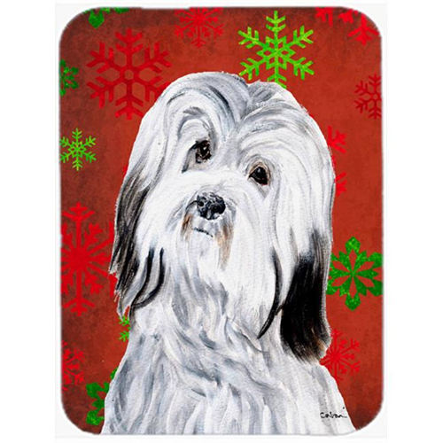 Carolines Treasures SC9761MP Havanese Red Snowflakes Holiday Mouse Pad Hot Pad Or Trivet 7.75 x 9.25 In.