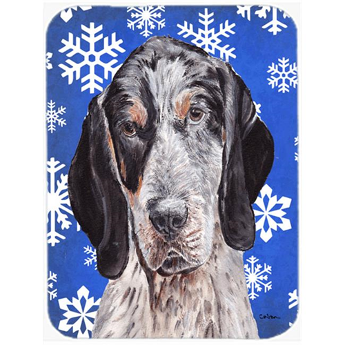 Carolines Treasures SC9769MP Blue Tick Coonhound Winter Snowflakes Mouse Pad Hot Pad Or Trivet 7.75 x 9.25 In.