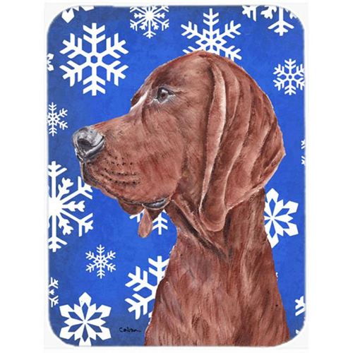 Carolines Treasures SC9779MP Redbone Coonhound Winter Snowflakes Mouse Pad Hot Pad Or Trivet 7.75 x 9.25 In.