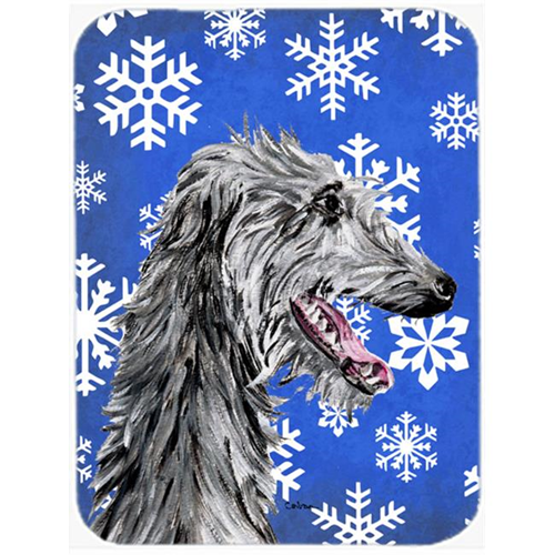 Carolines Treasures SC9789MP Scottish Deerhound Winter Snowflakes Mouse Pad Hot Pad Or Trivet 7.75 x 9.25 In.