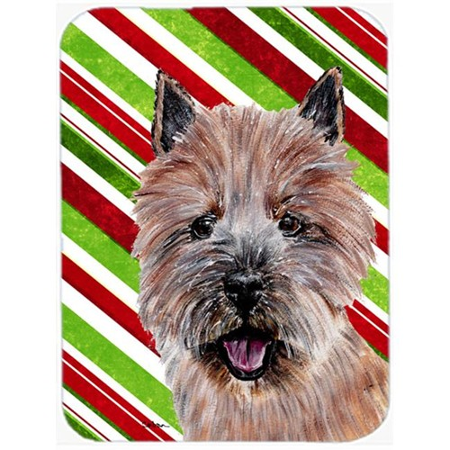 Carolines Treasures SC9806MP Norwich Terrier Candy Cane Christmas Mouse Pad Hot Pad Or Trivet 7.75 x 9.25 In.
