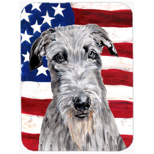 Carolines Treasures SC9634MP Scottish Deerhound With American Flag Usa Mouse Pad Hot Pad Or Trivet 7.75 x 9.25 In.