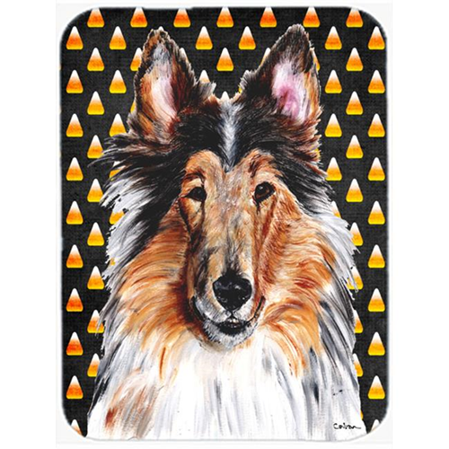 Carolines Treasures SC9646MP Collie Candy Corn Halloween Mouse Pad Hot Pad Or Trivet 7.75 x 9.25 In.