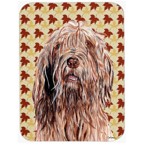 Carolines Treasures SC9685MP Otterhound Fall Leaves Mouse Pad Hot Pad Or Trivet 7.75 x 9.25 In.