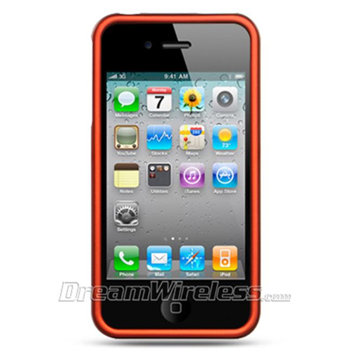DreamWireless IP-CRIP4OR iPhone 4S & iPhone 4 Compatible Hd Rubber Case - Orange
