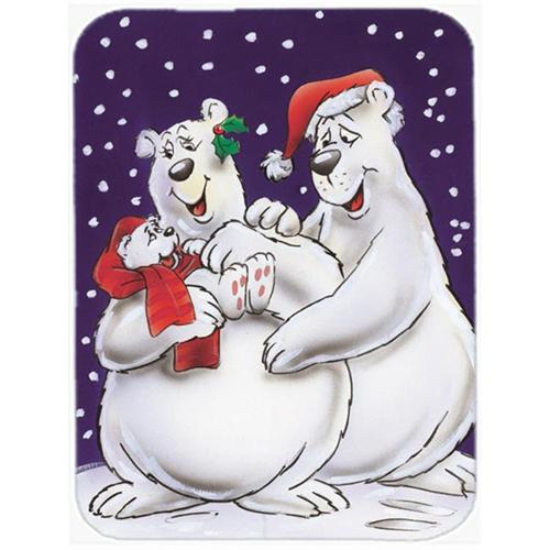 Carolines Treasures AAH7269MP Holiday Polar Bears Mouse Pad Hot Pad or Trivet