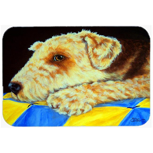 Carolines Treasures AMB1174MP Airedale Terrier Mommas Quilt Mouse Pad Hot Pad or Trivet