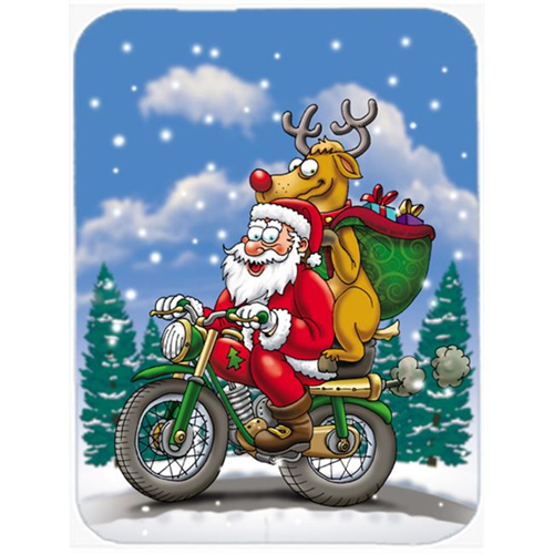 Carolines Treasures APH8996MP Christmas Santa Claus on a Motorcycle Mouse Pad Hot Pad or Trivet