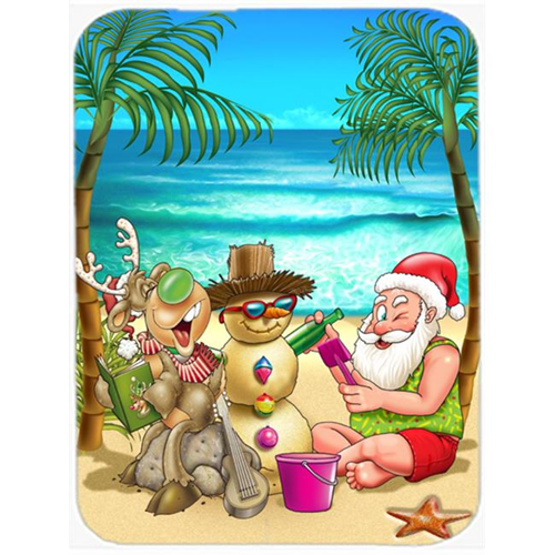 Carolines Treasures APH5148MP Beach Christmas Santa Claus & Sandman Mouse Pad Hot Pad or Trivet