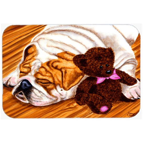 Carolines Treasures AMB1003MP English Bulldog & Teddy Bear Mouse Pad Hot Pad or Trivet