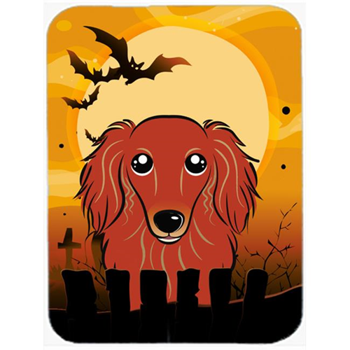 Carolines Treasures BB1772MP Halloween Longhair Red Dachshund Mouse Pad Hot Pad & Trivet