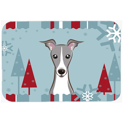 Carolines Treasures BB1732MP Winter Holiday Italian Greyhound Mouse Pad Hot Pad & Trivet