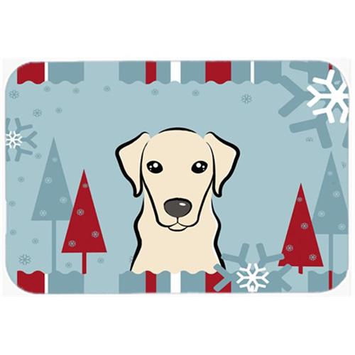 Carolines Treasures BB1718MP Winter Holiday Yellow Labrador Mouse Pad Hot Pad & Trivet