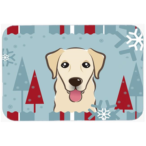 Carolines Treasures BB1748MP Winter Holiday Golden Retriever Mouse Pad Hot Pad & Trivet