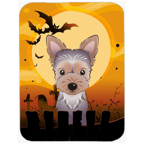 Carolines Treasures BB1790MP Halloween Yorkie Puppy Mouse Pad Hot Pad & Trivet